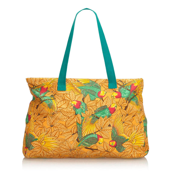 Orange Hermes Canvas Printed Tote Bag