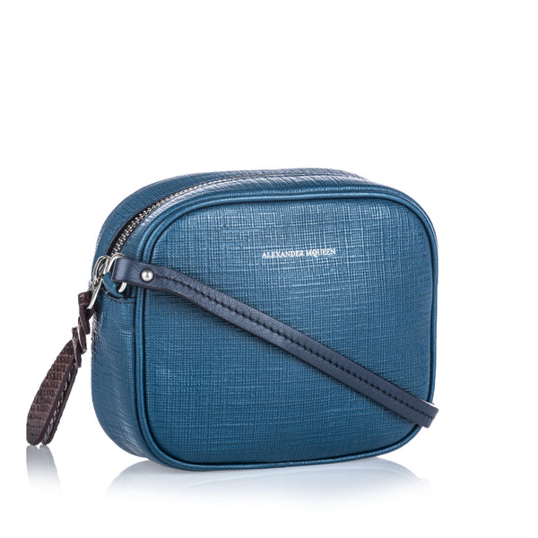 Blue Alexander McQueen Mini Camera Bag