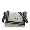 Gray Chanel CC Sports Line Nylon Crossbody Bag