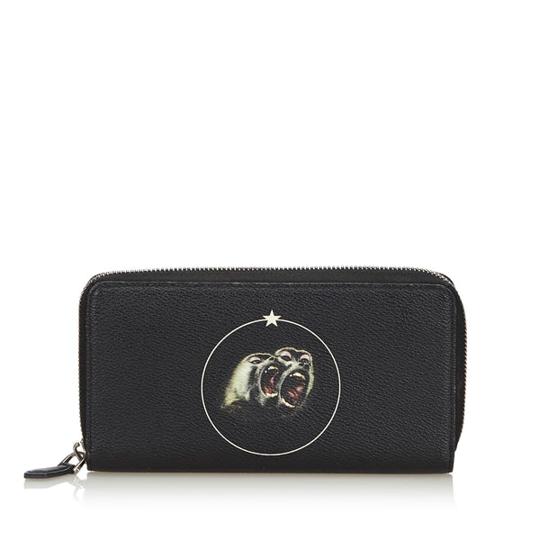 Black Givenchy Monkey Brothers Wallet