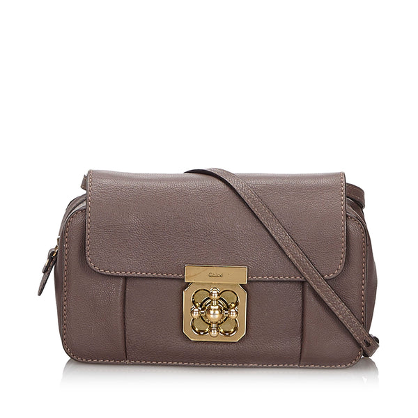 Brown Chloe Mini Leather Elsie Crossbody Bag