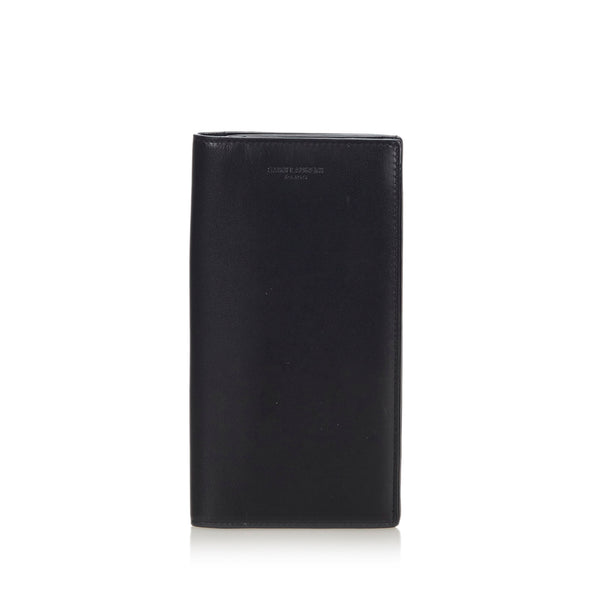 Black YSL Leather Long Wallet