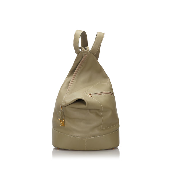 Brown Loewe Leather Anton Backpack Bag
