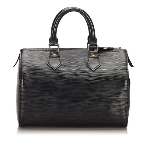 Black Louis Vuitton Epi Speedy 30 Boston Bag