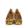 Yellow Prada Python Leather Ballerina