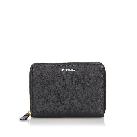 Black Balenciaga Leather Wallet