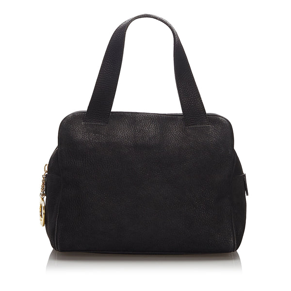 Black Celine Leather Handbag Bag