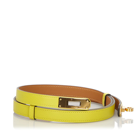 Yellow Hermes Epsom Kelly Belt