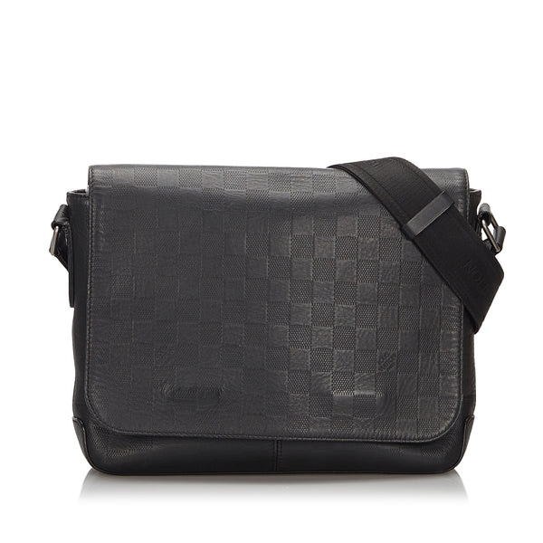 Black Louis Vuitton Damier Infini District MM Crossbody Bag