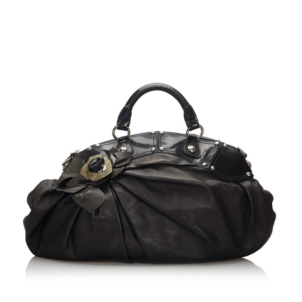Black Versace Leather Handbag Bag