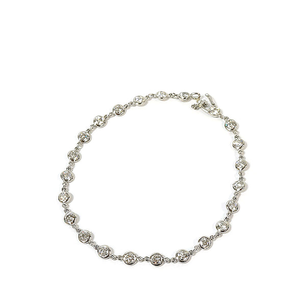 Silver Tiffany Diamonds By The Yard Bracelet