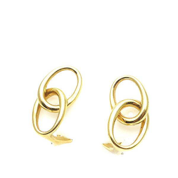 Gold Tiffany 18K Double Loop Earrings