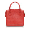 Red Fendi Leather Handbag Bag