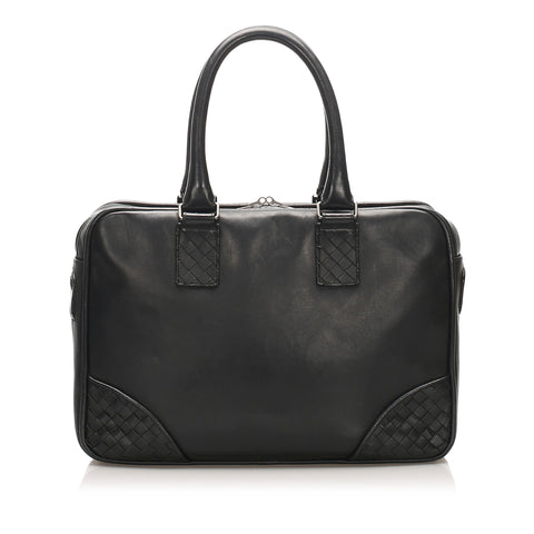 Black Bottega Veneta Intrecciato Leather Business Bag