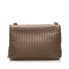 Brown Bottega Veneta Intrecciato Leather Shoulder Bag