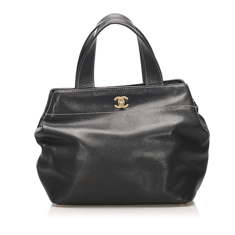 Black Chanel CC Leather Satchel Bag