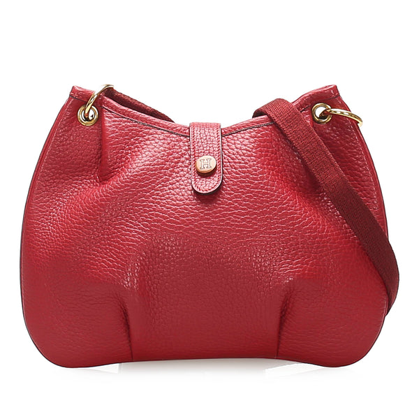 Red Hermes Rodeo Leather Shoulder Bag