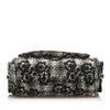 Black Chanel Camellia Tweed Shoulder Bag