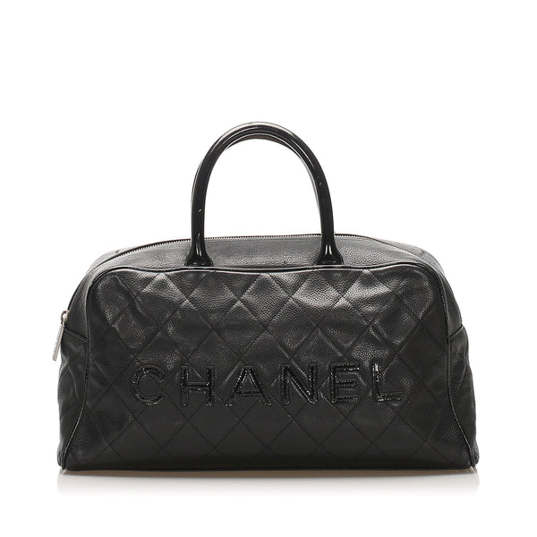 Black Chanel Caviar Travel Bag