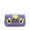 Purple Fendi Monster Leather Crossbody Bag