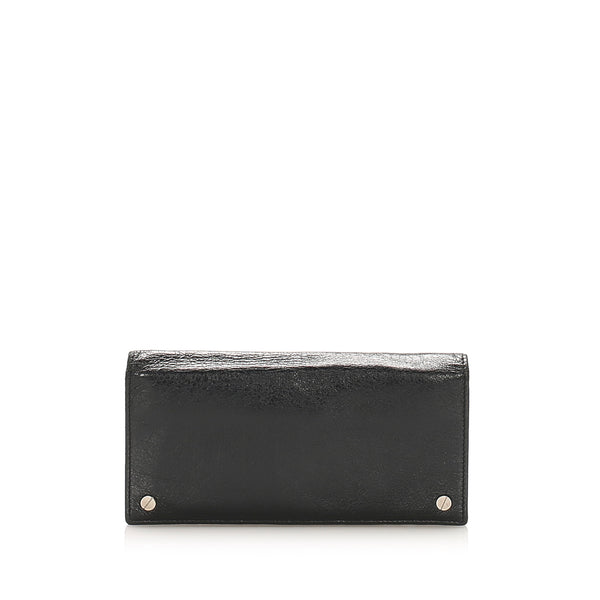 Black Balenciaga Leather Long Wallet