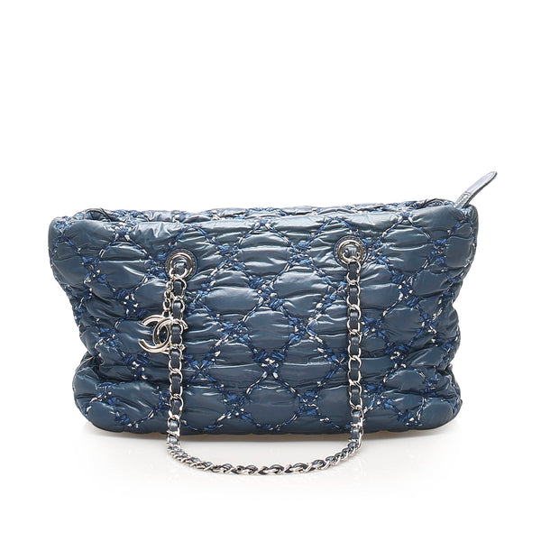 Blue Chanel Paris-Byzance Tweed On Stitch Shoulder Bag
