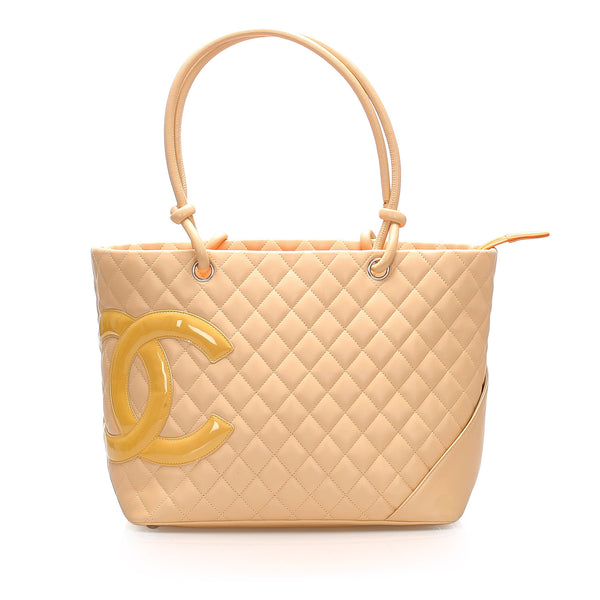 Brown Chanel Cambon Ligne Tote Bag