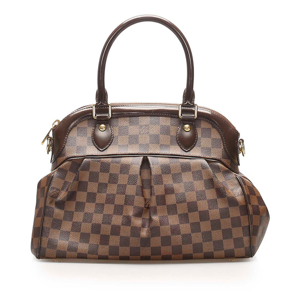Brown Louis Vuitton Damier Ebene Trevi PM Bag