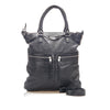 Black Balenciaga Motocross Oversized Square Leather Satchel Bag