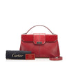 Red Cartier Leather Satchel Bag