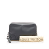 Black Louis Vuitton Taiga Pavel Clutch Bag