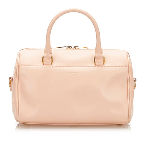 Pink YSL Classic Baby Duffle Leather Satchel Bag