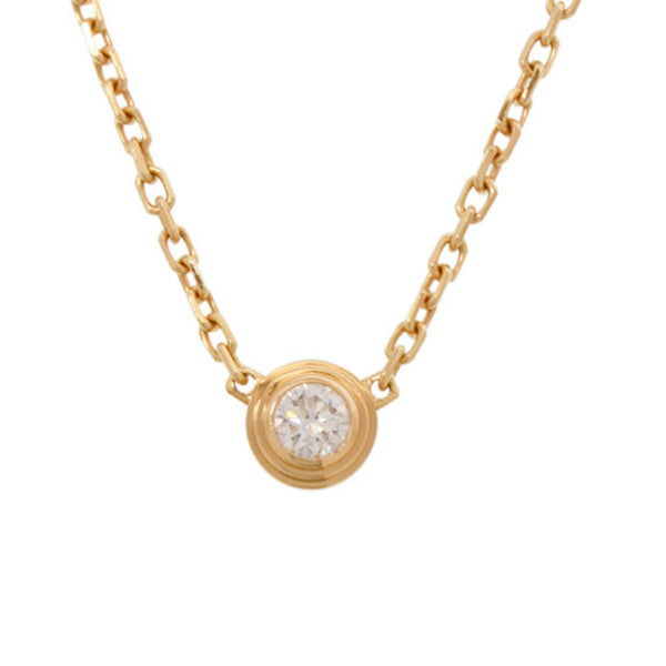 Gold Cartier Diamants Legers Necklace