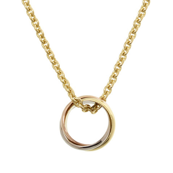 Gold Cartier Trinity Necklace