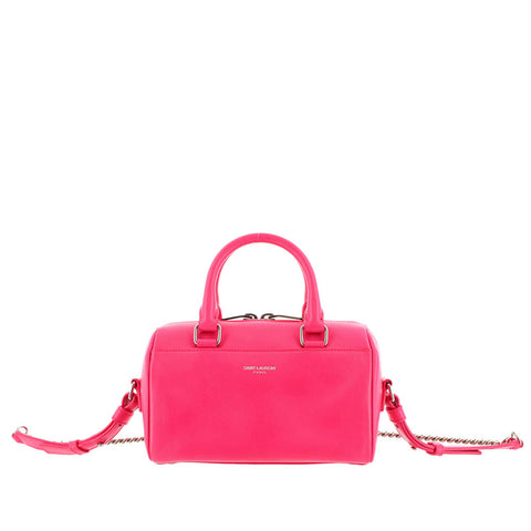 Pink YSL Mini Classic Duffle Leather Satchel Bag