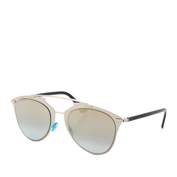 Silver Dior Round Tinted Sunglasses