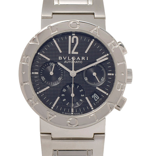 Silver Bvlgari Bvlgari Chronograph Automatic Watch