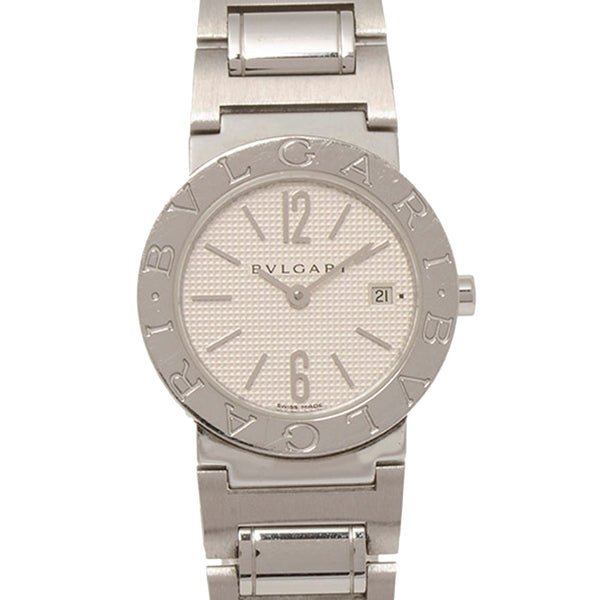 Silver Bvlgari Diagono Stainless Steel Watch