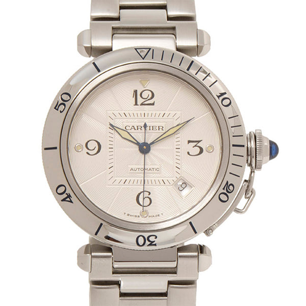 Silver Cartier Pasha Stainless Steel Watch