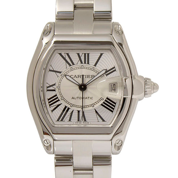 Silver Cartier Roadster Watch