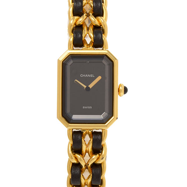 Black Chanel Premiere Chaine Watch
