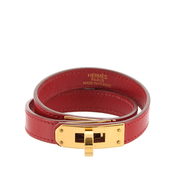 Red Hermes Epsom Kelly Belt Bracelet