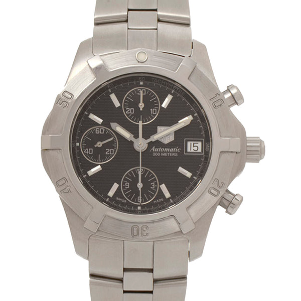 Silver Tag Heuer Exclusive Chronograph Watch