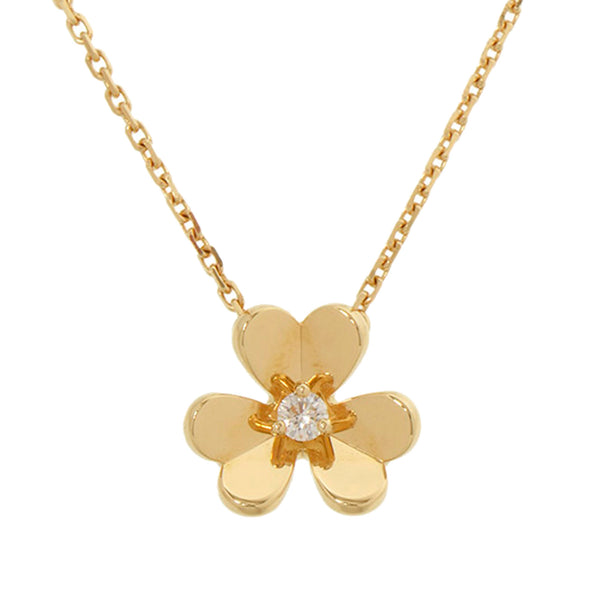 Gold Van Cleef and Arpels 18K Frivol Necklace