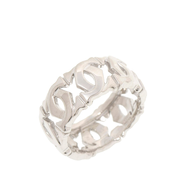 Silver Cartier 18K Double C Ring