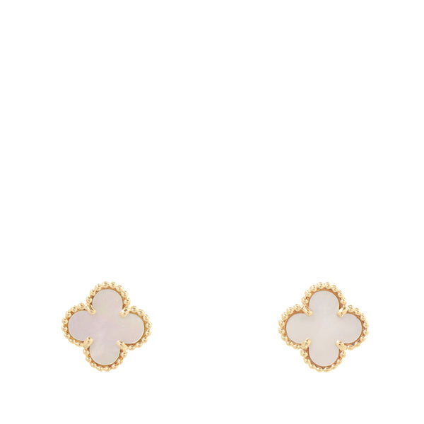 Gold Van Cleef and Arpels 18K Sweet Alhambra Earrings