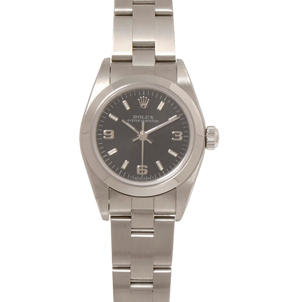 Silver Rolex Oyster Perpetual Watch