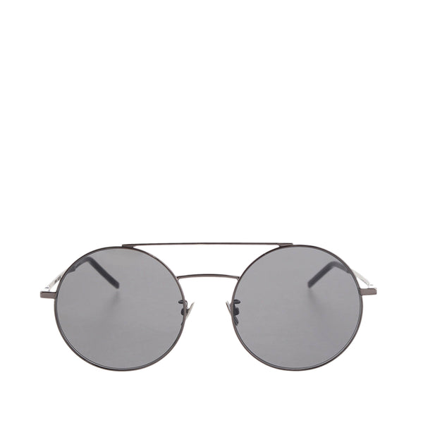 Gray YSL Round Sunglasses