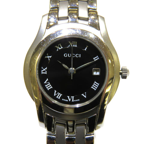 Silver Gucci 5500L Watch