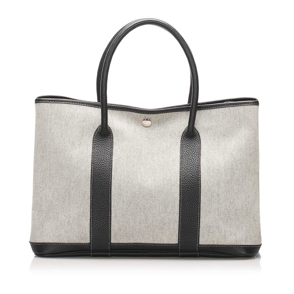 White Hermes Garden Party PM Bag